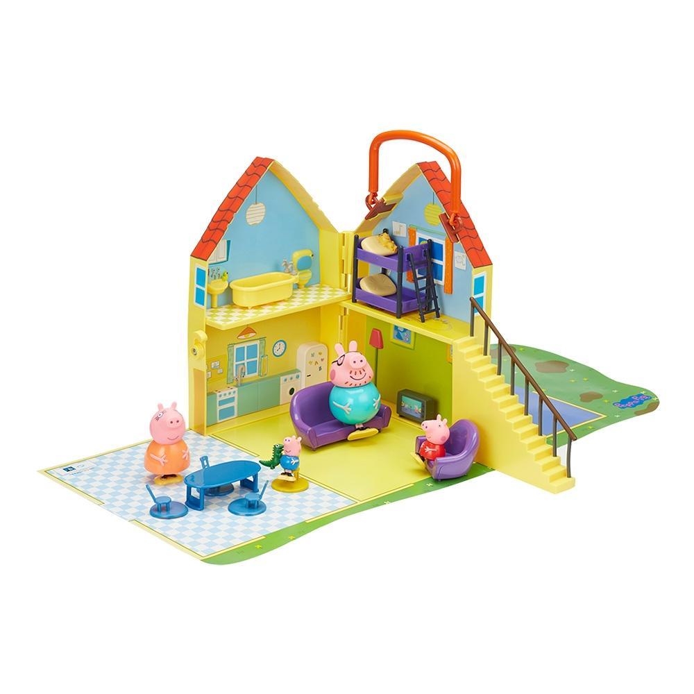 Casita Peppa Pig Con 4 Figuras Y Accesorios Walmart En Línea