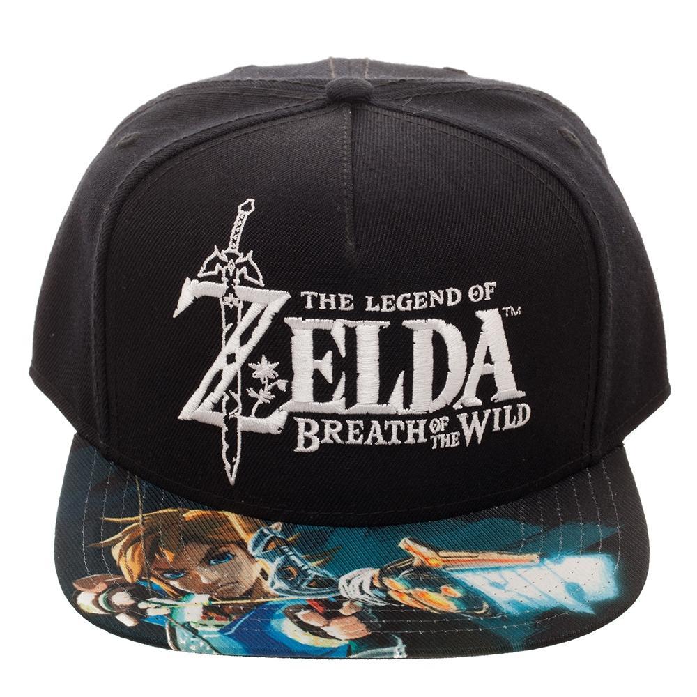 Gorra Bioworld Super Nintendo Zelda Bordado 3D Negra  a5cfcb4fc8c