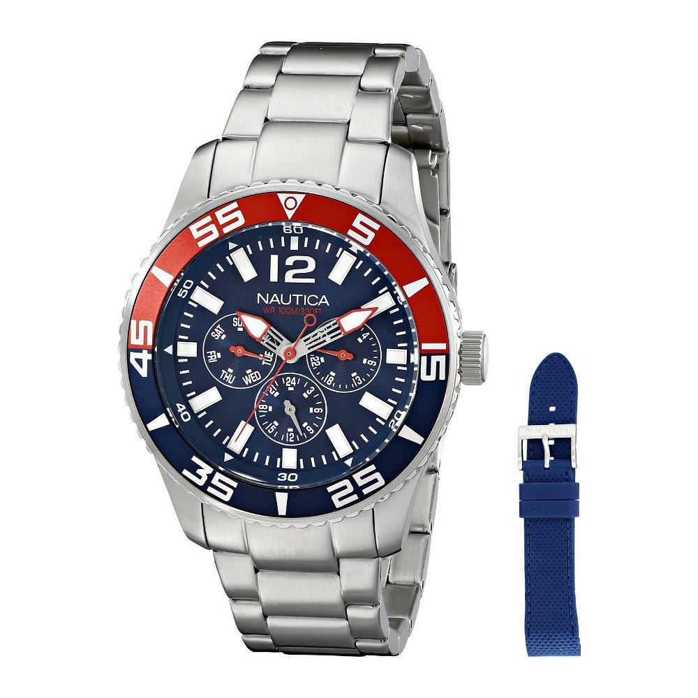 3d8a723cdb85 Reloj Nautica Nautica Para Caballero De Acero Inoxidable Cuarzo Japones  Nad16503g