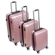 f612c99b62533 Juego 3 Maletas De Viaje Rigidas 4 Ruedas Candado Seguridad - Rosa Onof  AP-21